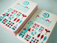 日本のテキスタイルデザイナーさんのブランド「Patapri」の名刺