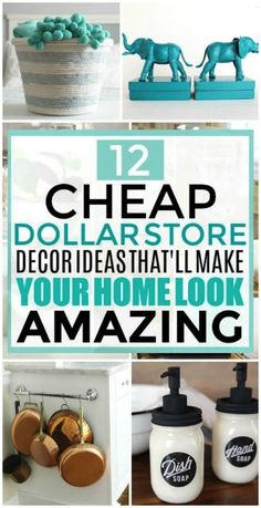 diy home decor on a budget dollar stores These Dollar Store Decor Hacks are THE BEST! Im so glad I found these GREAT home decor ideas and tips! Now I have great ways to decorate my home a a budget and decorate on a dime! Diy Home Decor On A Budget, Diy Home Decor Projects, Kitchen On A Budget, Cheap Home Decor, Decor Ideas, Decor Diy, Craft Projects, Craft Ideas, Dollar Store Hacks