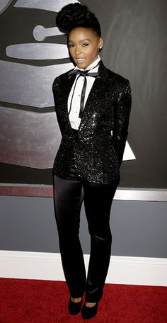 Janelle Monae. A woman who knows what works for her.  And it works every time.