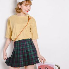 Tartan Pleated Mini Skirt - Rebel Style Shop - Be center of attention in this wildly stylish empire waist tartan skirt.