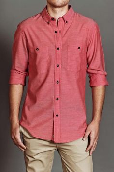 Smooth Co Chambray Long Sleeve