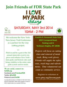 2014 I Love My Park Day at FDR State Park #ILMPD