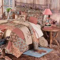 Whispering Creek Cowgirl Bedding - Love the fabrics, just not the horses.