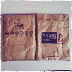 T-shirt packaging #brown #paper #bag #package #tshirt #stamps #tie #packaging