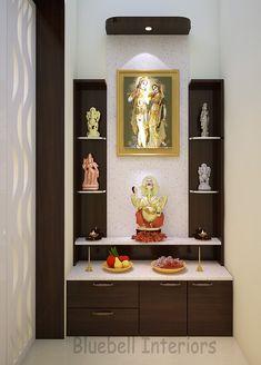 Interior Design Kitchen, Room Interior, White Quartz Counter, Pooja Mandir, Pooja Room Door Design, Puja Room, Prayer Room, Room Doors, Quartz Countertops