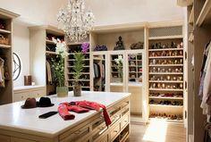 TOM & GISELE SELL MANSION: Gisele Bundchen's personal #closet. Shoe #organization at its finest!