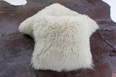 Real Genuine Mongolian Goat Tibet Lamb Fur pillow Beige on Etsy, $49.00