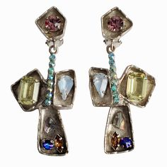1stdibs - Silver-Gilt Earrings by Christian LACROIX explore items from 1,700  global dealers at 1stdibs.com
