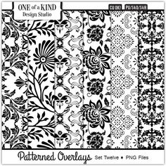 Patterned Overlays - Set Twelve [OKDS_PO12] : CU Digitals, Commercial Use Digital Scrapbooking Designs