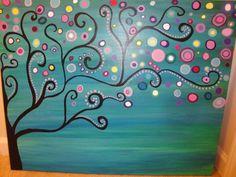 Large abstract tree acrylic painting my art portfolio картин Acrylic Painting Inspiration, Simple Acrylic Paintings, Acrylic Art, Diy Painting, Painting & Drawing, Easy Paintings, Kunst Portfolio, Diy Art, Canvas Art