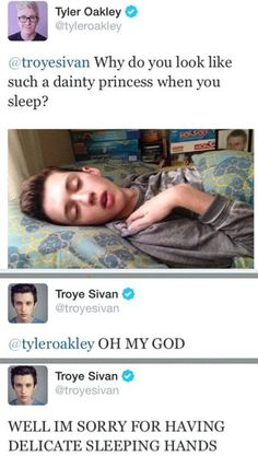 troyler Tyler Oakley and Troye Sivan Youtubers, Tyler Oakley, Haha, Funny Quotes, Funny Memes, That's Hilarious, Connor Franta, Joe Sugg, Fandoms