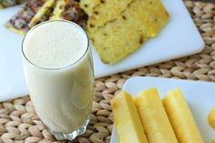 Pina Colada Smoothie:1 serving: 1 cup light plain yogurt 1 1/2 cups fresh or canned pineapple (cut into small chunk...put all the ingredients in a blender, then process on high speed until the ice is liquefied and the mixture is smooth