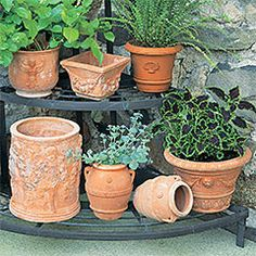 Perfect pots for your plant-Italian clay pottery.