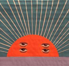 honeychromehideout:Sun - Acrylic paint on cardboard
