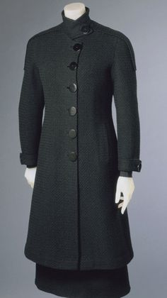 Woman's Ensemble: Coat and Dress    Made in Paris, France, Europe  Winter 1930-31    Designed by Elsa Schiaparelli