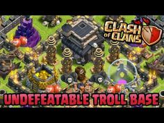 Undefeatable Town Hall 9 Troll Base for Pushing Trophy Clash Of Clans Gameplay, Anime Scenery Wallpaper, Free Gems, Town Hall, Troll, Base, Make It Yourself
