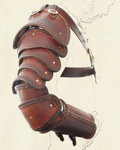 Segmented arm armour for sword arm