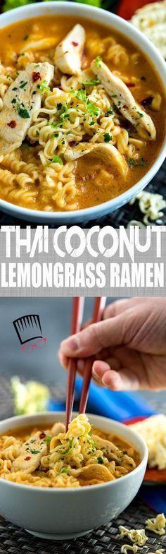 thai coconut lemongrass ramen (Cheap Noodle Recipes)