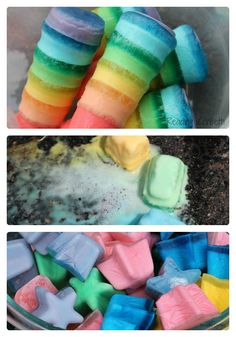 7 Ways to Make Ice Chalk for Kids from Reading Confetti at B-InspiredMama.com  #kids #summerfun #kbn #binspiredmama