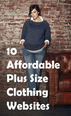 10 Affordable Plus Size Clothing Websites Tons of brands have started catering to curvy girls, expanding their clothing lines for plus size women…plus size women, with plus size wallets. While there are many boutiques out there offering plus size clothing Plus Size Tips, Look Plus Size, Dress Plus Size, Plus Size Websites, Plus Size Hair, Best Plus Size Jeans, Plus Size Dress Clothes, Plus Size Style, Cheap Plus Size Jeans