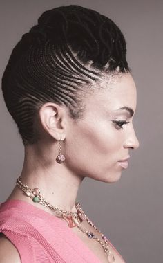 cornrows with bun   The Fabulous Cornrow Styles for Women   Best Medium Hairstyle