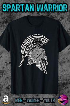 Ancient Greek Hero Shirt Spartan Warrior Helmet T-Shirt Warrior Helmet, Spartan Warrior, Cat Shirts, Cool T Shirts, Warriors T Shirt, Cat Lover Gifts, T Shirts For Women, Tees, Mens Tops