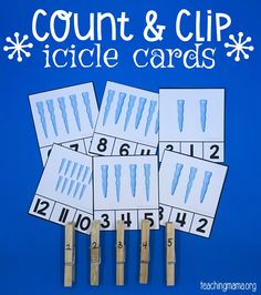 Count & Clip Icicle Cards (from Teaching Mama)
