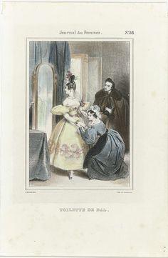 Journal des Femmes, 1832-1837, No. 88 : Toilette de Bal, Anonymous, Lemercier, 1832 - 1837