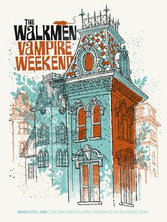 Vampire Weekend-Walkmen « Limited Edition Gig Posters « Methane Studios