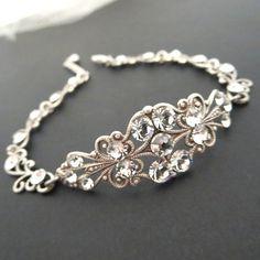 Vintage style bracelet Bridal bracelet Silver by treasures570, $47.00