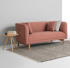 Tribeca 2 Seater Sofa, MADE.COM If you've got a thing for Scandi design, you'll love Tribeca sofa collection. It's part of what we call the New Nordic look - a subtle move on from Scandi, but with a bright pop of colour. House Furniture Design, Bench Furniture, Custom Furniture, Home Furniture, Sofa Set Designs, Sofa Design, Nordic Sofa, Home Design 2017, Nordic Interior Design