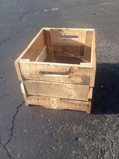 Crate by CandBWoodShop on Etsy