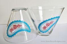 Painted Glassware #marthastewartcrafts #mothersday