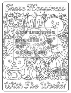 Coloring Page To Relax Soothing Calm And Delightful Pages Color Fall Thanksgiving Holiday