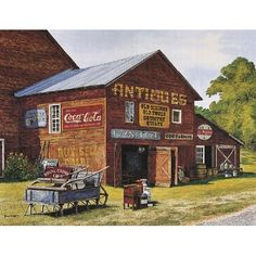 Cola Store Coke Posters Vintage Shop Art Prints: Patio, Lawn & Garden