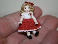 Crochet Clothes, Hand Crochet, Dolls, Christmas Ornaments, Holiday Decor, Mini, Handmade, Baby Dolls, Hand Made
