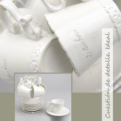 Elegante juego de café en color blanco roto con 6 tazas y 6 platitos que hará las delicias de tus invitados. Su estructura para conservarlos en orden lo convierte en un magnífico regalo. (3) http://elhogarideal.com/es/vajillas-y-menaje/827-juego-de-cafe-con-soporte-bonheur.html#.VVi6iPntmko