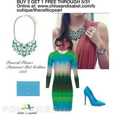 Today's Featured Product: Peacock Plumes Statement Bib Necklace $168 Shop: https://www.chloeandisabel.com/boutique/thecelticpearl/products/N523AQAR/peacock-plumes-statement-bib-necklace   #Summer #Summer2017 #India Jaipur #necklace #statement #peacock #jewelry #fashion #accessories #style #shopping #boutique #picoftheday #photooftheday #love #daily #chloeandisabel #thecelticpearl #trendy #shop #buy
