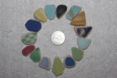 AWESOME BEACHGLASS POTTERY GemsTop Drilled by BEACHGLASSSWEPTASHOR, $14.00