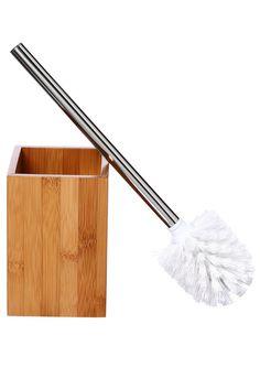 brosse wc bambou bois clair tatifr - Accessoire Salle De Bain Bambou