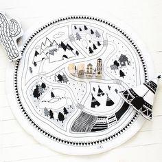Let's Play Food Mat / Printed on Organic White #FairfieldGrantsWishes