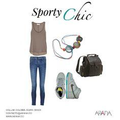 ¿Te atreves a probar el look sporty? Una de las tendencias favoritas del momento. Recuerda combinarlo con las #joyas de Arana. #outfit