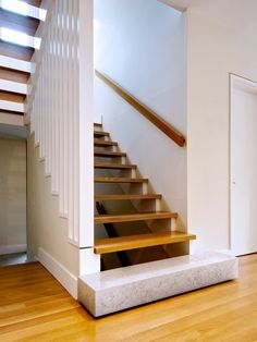 Sumptuous Stair Handrail convention Toronto Modern Staircase Image Ideas with Bianco Asiago marble stair open risers slatted wood stairs White Oak Stair white oak Wall Mounted Handrail, Wood Handrail, Staircase Handrail, Oak Stairs, Marble Stairs, Floating Staircase, Modern Staircase, Stair Railing, Staircase Design