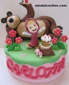 Resultado de imagen para tortas de masha y el oso