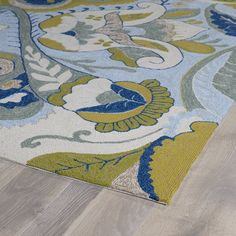 Home and Porch Floral Indoor/Outdoor Area Rug II
