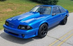 Blue Mustang LX 5.0 Hatchback 93 Mustang, Blue Mustang, Fox Body Mustang, Mustang Cars, Pretty Cars, Nice Cars, Mustang Hatchback, Mustang Interior, Ford Mustangs