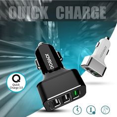 Quick Charge QC 3.0 3 USB Car Phone Charger Fast Charging For Samsung galaxy s7 s6 edge plus s5 note 5 Meizu pro 5 mx5 Adapter