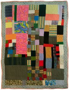 Mary Maxtion (Sumter County, Alabama, 1924 - )  My Mother's Quilt 1993 Cotton/ polyester blend, polyester, cotton 99 in. x 71 1/2 in. (251.46 cm x 181.61 cm)   Montgomery Museum of Fine Arts Association Purchase 2008.0009.0003