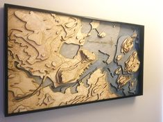 Making a laser-cut topo map of Portland, ME - Bestpin Router Projects, Easy Wood Projects, Woodworking Projects, Projects To Try, Woodworking Shop, Wooden Map, Laser Cutter Projects, 3d Cnc, Ideias Diy