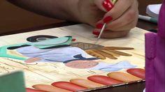 Mulher.com 01/05/2015 Soraia Leite - Quadro para cozinha pintura country...